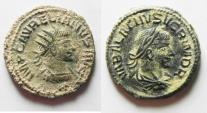 Ancient Coins - BEAUTIFUL AS FOUND AURELIAN AND VABALATHUS AE ANTONINIANUS. DESERT PATINA