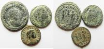 Ancient Coins - LOT OF 3 NICE AE ROMAN COINS, AS FOUND