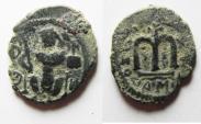 Ancient Coins - ARAB-BYZANTINE AE FALS. DAMASCUS MINT.