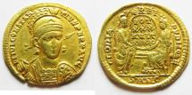 Ancient Coins - Roman Imperial. Constantius II Gold Solidus. Nikomedia Mint.