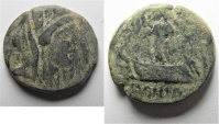 Ancient Coins - Phoenicia. Sidon. 91 - 90 B.C . AE 21. AS FOUND