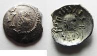 Ancient Coins - ARABIA, Southern. Himyar. Tha'rān Ya'ūb Yuhan'im. Circa AD 175-215. AR Unit . Raydan mint.