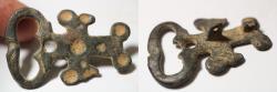 Ancient Coins - ANCIENT BYZANTINE BRONZE BELT BUCKLE. 7000 - 1000 A.D