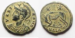 Ancient Coins - ORIGINAL DESERT PATINA. CONSTANTINE I COMMEMORATIVE ISSUE. SHE-WOLF AE 3. ALEXANDRIA MINT
