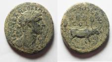 Ancient Coins - PHOENICIA, Ace-Ptolemais. Hadrian. AD 117-138. Æ
