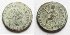 Ancient Coins - DIVO MAXIMIANUS Commemorative, AE HALF Follis, Struck under Constantine I, AD 317-318