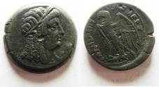 Ancient Coins - PTOLEMAIC EMPIRE. PTOLEMY V 205-180 BC . AE28 . WITH ISIS
