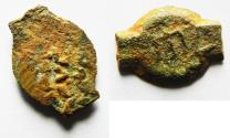 Ancient Coins - JUDAEA, HEROD the GREAT, 40-4 BC. AE PRUTAH