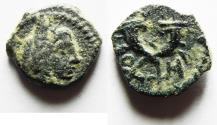 Ancient Coins - NABATAEA. Aretas IV. 9 BC-AD 40. Æ 14. Petra mint. DATED YEAR 10