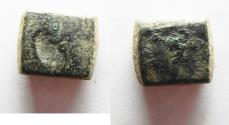 Ancient Coins - ISLAMIC. UMAYYAD AE WEIGHT. COUNTERMARKED. 5.73GM