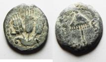 Ancient Coins - JUDAEA, Herodians. Agrippa I. 37-43 CE. AE Prutah .Jerusalem mint.