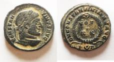 Ancient Coins - NICE CONSTANTINE I THE GREAT AE FOLLIS