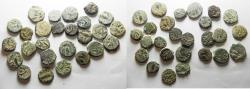 Ancient Coins - JUDAEA. AS FOUND LOT OF 26 BRONZE PRUTOT