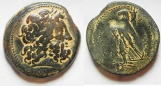 Ancient Coins - GREEK. Ptolemaic Kings. Ptolemy II Philadelphos (285-246 BC). AE diobol (32mm, 22.69g). Ake-Ptolemais mint.