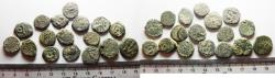 Ancient Coins - 	LOT OF 17 ANCIENT BRONZE COINS. JUDAEAN. AS FOUND