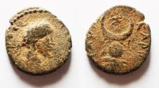 Ancient Coins - Mesopotamia. Carrhae under Septimius Severus (?) (AD 193-211). AE 13mm