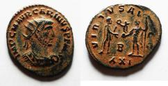 Ancient Coins - BEAUTIFUL ORIGINAL PATINA: CARINUS AE ANTONINIANUS