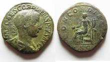 Ancient Coins - Gordian III Æ Sestertius