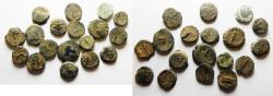 Ancient Coins - LOT OF 18 PHOENICIAN MINTS SELEUKID AE COINS. 14MM - LARGEST