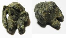 Ancient Coins - ANCIENT HOLY LAND , EARLY BRONZE FRAGMENT OF A STATUE. 2000 B.C - APPROXIMATE