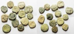 Ancient Coins - AS FOUND: LOT OF 14 NABATAEAN BRONZE COINS
