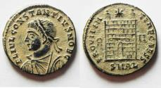 Ancient Coins - RARE CONSTANTIUS II AE 3 . ALEXANDRIA MINT. BEAUTIFUL WITH DESERT PATINA