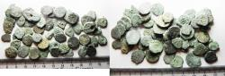 Ancient Coins - JUDAEA. LOT OF 55 BRONZE PRUTAH COINS. MIXED