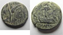 Ancient Coins - Phoenicia. Sidon. 91 - 90 B.C . AE 21. AS FOUND
