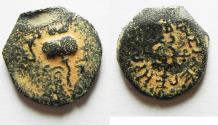 Ancient Coins - Judaea. Herod the Great, 2 Prutah. 40-4 BC. AE 16