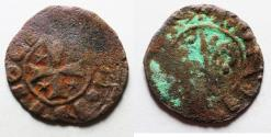 World Coins - CRUSADERS, Latin Kingdom of Jerusalem. Henry of Champagne. 1192-1197. Æ Pougeoise