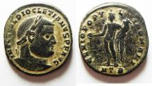 Ancient Coins - NICE DIOCLETIANUS LARGE AE FOLLIS