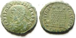 Ancient Coins - CONSTANTINE II AE 3 , CAMP GATE , AS FOUND