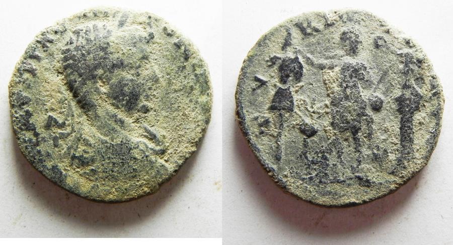 Ancient Coins - ORIGINAL DESERT PATINA: PHOENICIA, Tyre. Elagabalus. AD 218-222. Æ 29