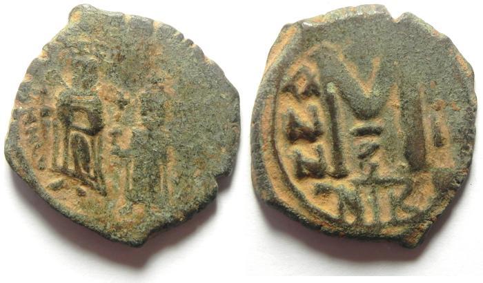 Ancient Coins - BYZANTINE , PHOCAS AE FOLLIS NICOMEDIA