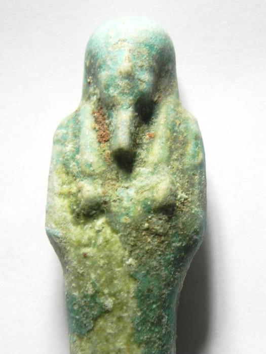Ancient Coins - ANCIENT EGYPTIAN , 27TH DYNASTY OR LATER , 600 - 300 B.C FAIENCE USHABTI  BEAUTIFULL
