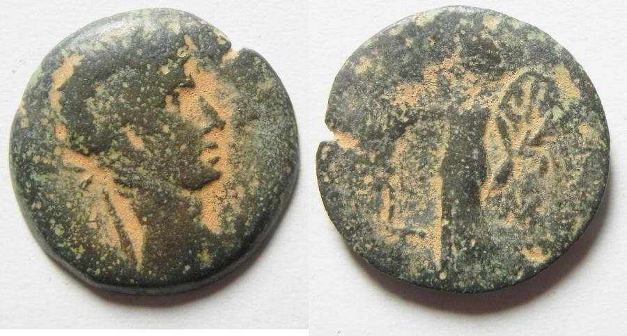Ancient Coins - EGYPT - ALEXANDRIA , AUGUSTUS AE DIOBOL