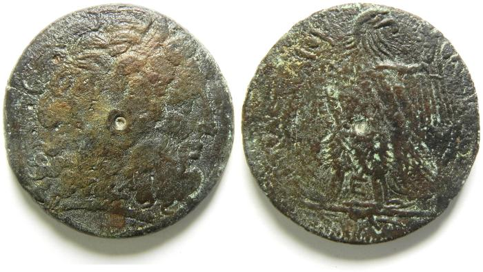 Ancient Coins -  PTOLEMAIC KINGDOM , PTOLEMY IV LARGE AE 38