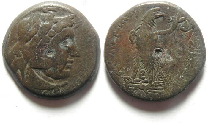 Ancient Coins - PTOLEMAIC KINGDOM , PTOLEMY IV AE 26 , ALEXANDER THE GREAT HEAD , CHOICE!!!