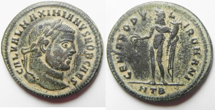 Ancient Coins - Galerius. As Caesar, A.D. 293-305. Æ follis. Heraclea