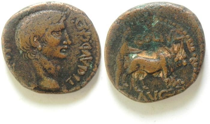 Ancient Coins - Phoenicia, Berytus. Claudius. A.D. 41-54. Æ 25