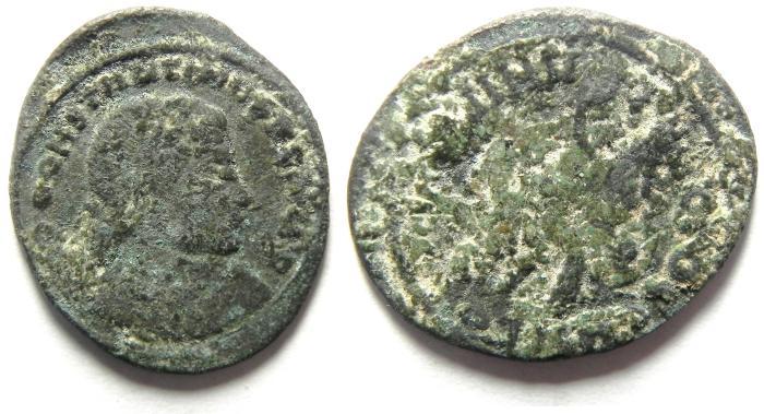 Ancient Coins - CONSTANTINE I AE FOLLIS AS FOUND