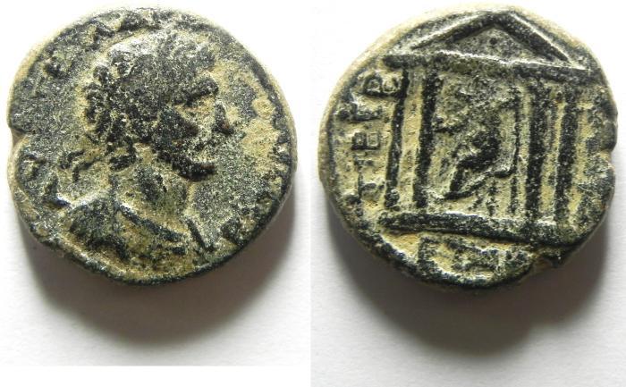 Ancient Coins - JUDAEA , GALILEE , TIBERIAS , HADRIAN AE 22