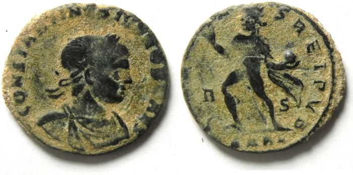 Ancient Coins - CONSTANTINE II AE 3 , scarce , Arles