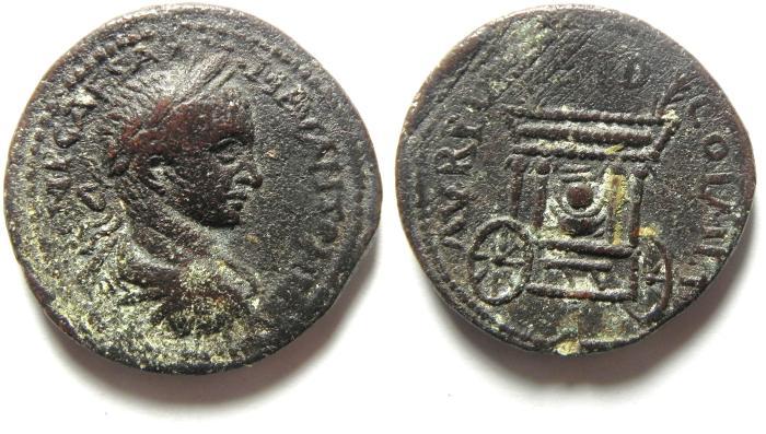 Ancient Coins - Roman Provincial. Phoenicia, Sidon under Elagabalus, AD 218-222. AE 30, choice quality!!!!