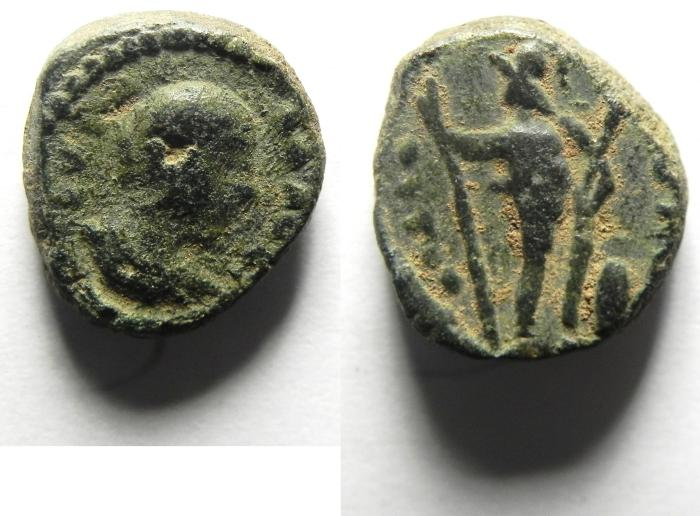 Ancient Coins - JUDAEA, Sebaste. Julia Maesa, Augusta, AD 218-224/5, Æ 14mm. VERY RARE!!