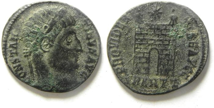 Ancient Coins - CONSTANTINE I AE 3 , AS FOUND  CAMP GATE