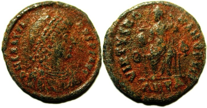 Ancient Coins - GRATIAN AE 3 , AS FOUND