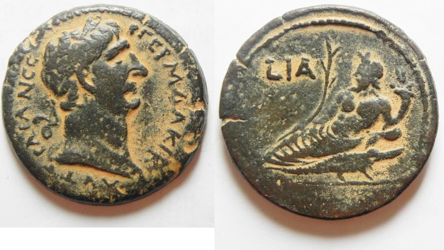 Ancient Coins - EGYPT, Alexandria. Trajan. AD 98-117. Æ Drachm . Dated RY 11 (AD 107/8).