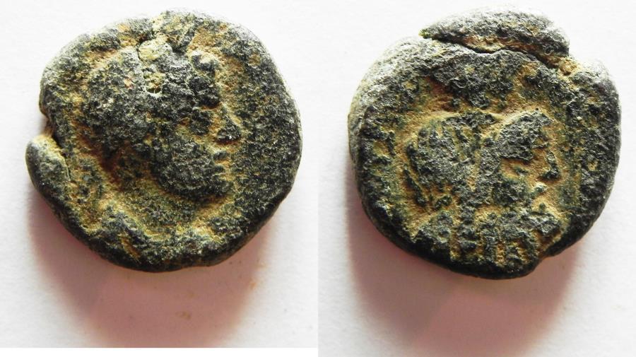 Ancient Coins - JUDAEA. CAESAREA. ELAGABALUS AE 18