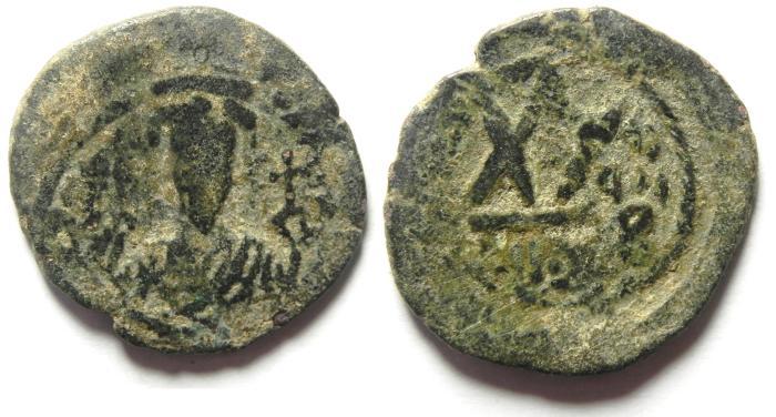 Ancient Coins - BYZANTINE - PHOCAS AE HALF  FOLLIS